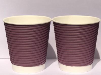Worldstar RIPPLE GLASS 250 ML, Set of 50, Hot Coffee, Soups, etc Paper Mug(250 ml, Pack of 50)