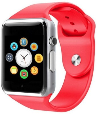 WILES A1 calling phone Smartwatch(Red Strap, FREE SIZE)