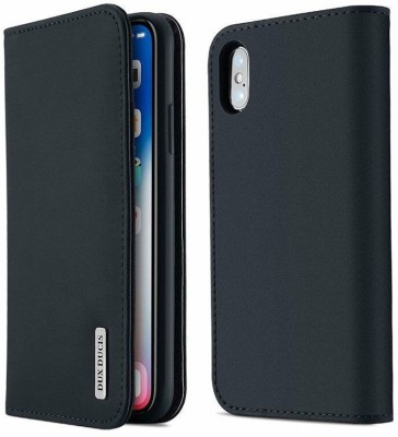 DHAN GTB Flip Cover for Apple iPhone X(Blue, Grip Case)
