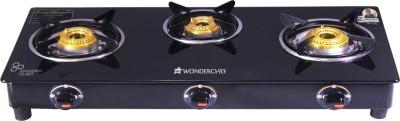Wonderchef Ruby Black 3 Burner Glass Glass Manual Gas Stove(3 Burners)