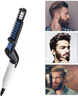cart Quick Hair Styler for Men Electric Beard Straightener Massage Hair Comb Beard Care Comb Multifunctional Curly Hair Straightening Comb Curler beard straightener 001 Hair Straightener (Black) Hair Straightener(Multicolor)