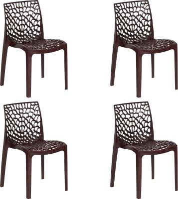supreme Web Plastic Cafeteria Chair(Finish Color - Brown)