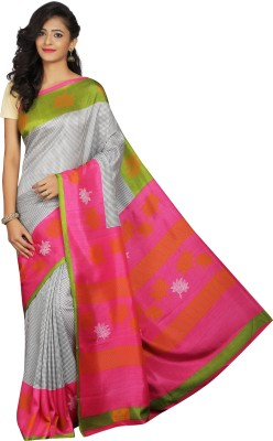 Luvberry Printed Bollywood Crepe Saree Multicolor