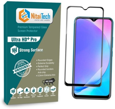 NitaiTech Edge To Edge Tempered Glass for Vivo Y15, Vivo Y17, Vivo Y12, Vivo U10(Pack of 1)