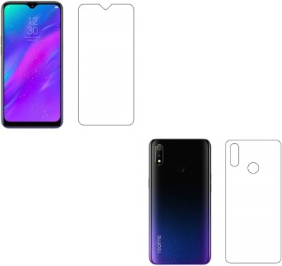 MBK Front and Back Screen Guard for Realme 3, Realme 3i, Vivo Y93(Pack of 2)