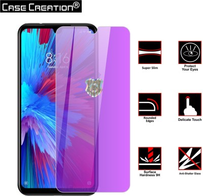 Case Creation Tempered Glass Guard for Xiaomi Mi A3 Anti Blue Tempered Glass(Pack of 1)