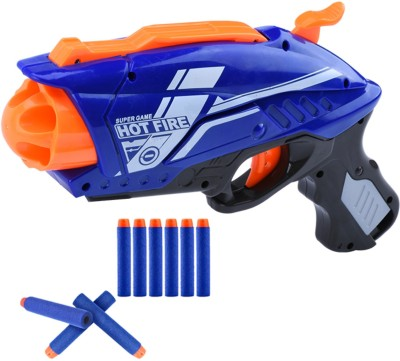 Miss & Chief Manual Rapid Shooter Blaze Gun with 20 Foam Bullets for Kids Guns & Darts(Blue)