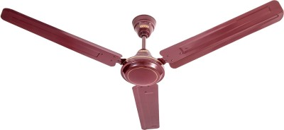 USHA Racer 1200 mm Ultra High Speed 3 Blade Ceiling Fan(Rich Brown/Brown, Pack of 1)