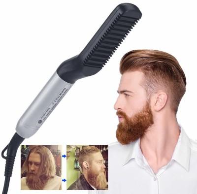 RHONNIUM ® Beard Straightener Styler Comb,Hair Straightening ® Beard Straightener Styler Comb,Hair Straightening Hair Styler(Silver - 23)