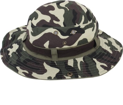 ZACHARIAS Camouflage Printed Hat(Green, Pack of 1)