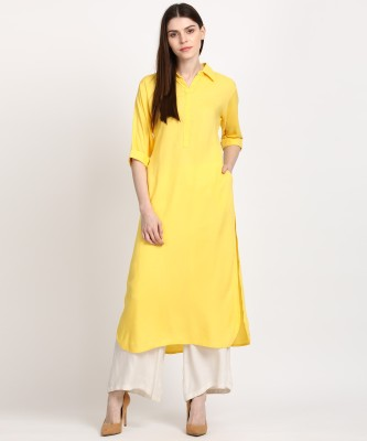 Libas Women Solid Pathani Kurta