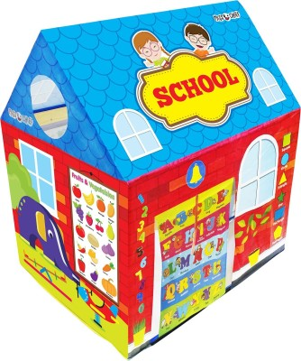 Miss & Chief Play tent house for kids in school theme(Blue)