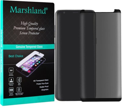 Marshland Tempered Glass Guard for Privacy, Screen Protector 3D Curved Edge Anti Scratch Bubble Free Glass, Samsung Galaxy S9 Plus(Pack of 1)