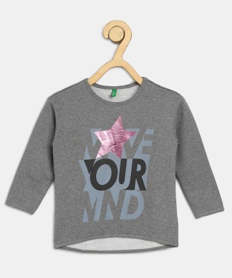 United Colors of Benetton Full Sleeve Printed Girls Sweatshirt United Colors of Benetton Kids' Sweatshirts
