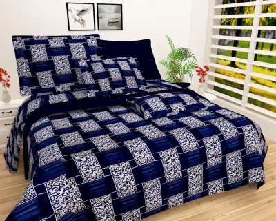 NEW STYLE VG 180 TC Microfiber Double Self Design Bedsheet(Pack of 1,...