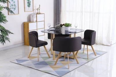 Flipkart Perfect Homes Atiu Metal 4 Seater Dining Set(Finish Color - Brown)