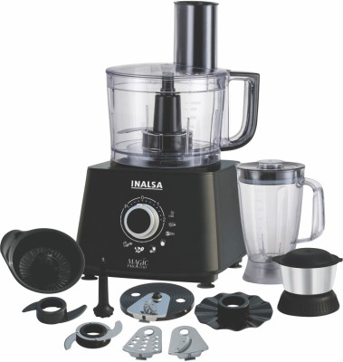 Inalsa Magic Pro 800 W Food Processor(Black)