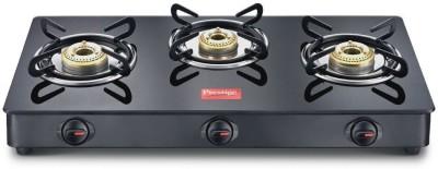 Prestige Pearl Aluminium Manual Gas Stove(3 Burners)