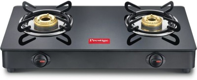 Prestige Pearl Aluminium Manual Gas Stove(2 Burners)