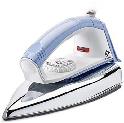 BAJAJ New Popular Plus Dry Iron (White/Lavender) 750 Watt 750 W Dry Iron(Blue)