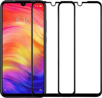 Karpine Edge To Edge Tempered Glass for Mi Redmi Note 8(Pack of 2)