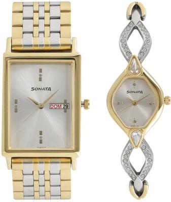 Sonata NK770038063BM01 Analog Watch  - For Couple