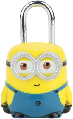 Shoppers Stoppers Steel Minion Blue-Yellow Padlock Safety Lock(Yellow, Blue)