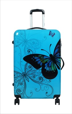 Tramp   Badger Butterfly Printed Check in Luggage   24 inch Tramp   Badger Suitcases