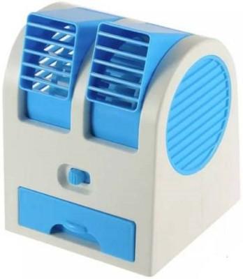 TechWiz `Cooler Portable Electric Air Conditioning Fan Mini USB Cooler Portable Electric USB Fan Blue, White