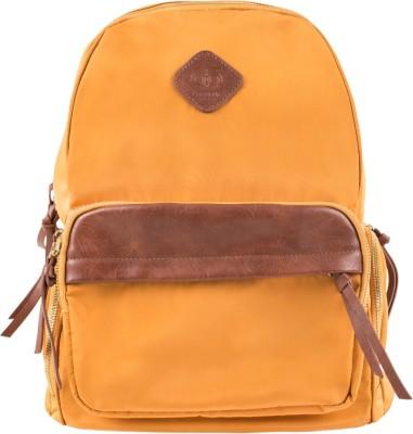Chumbak Desert Whispers Yellow Backpack 17.5 L Backpack(Yellow, Brown)