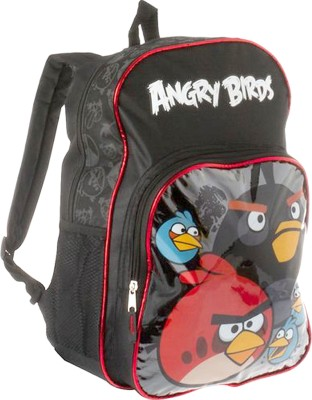 Angry Birds Backpack 16 L Backpack(Black)