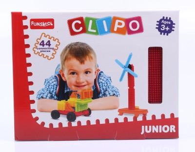 Funskool Clipo Junior  44 Pcs  Multicolor Funskool Clipo Blocks   Building Sets