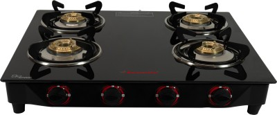 Butterfly Rapid 4 Burner Glass Manual Gas Stove(4 Burners)