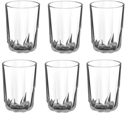 Treo FLORIA COOL Glass Set(Glass, 218 ml, Clear, Pack of 6)