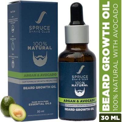 Spruce Shave Club Beard Growth Oil | With Argan & Avacado | 100% Natural Hair Oil(30 ml)