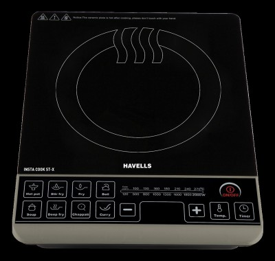 Havells INSTA COOK ST-X Induction Cooktop(Black, Touch Panel)