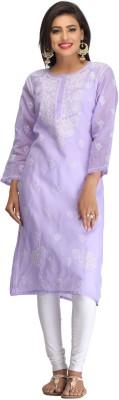 Ada Casual Embroidered Women Kurti(Purple)