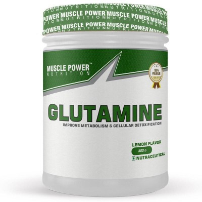 Muscle Power Glutamine For Muscle Growth & Recovery,Improve Metabolism &Cellular Detoxification Glutamine(300 g, Lemon)