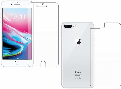 ELEF Front and Back Screen Guard for Apple iPhone 8 Plus Flexible Fiber Tempered Glass Screen Protector With 9H Hardness(Pack of 1)