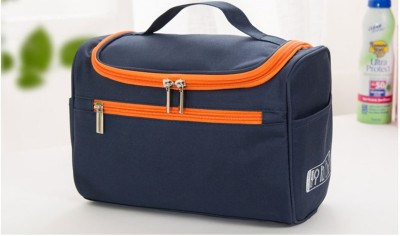 NIRVA Hanging Travel Organizer Cosmetic Polyester Bag Travel Toiletry Kit(Blue)