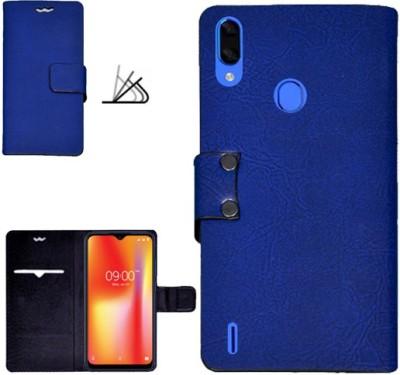 MYSHANZ Flip Cover for Lava Z93, Lava Z93 flip cover, Lava Z93 Desginer Flip cover, Lava Z93 mobile flip cover(Blue)