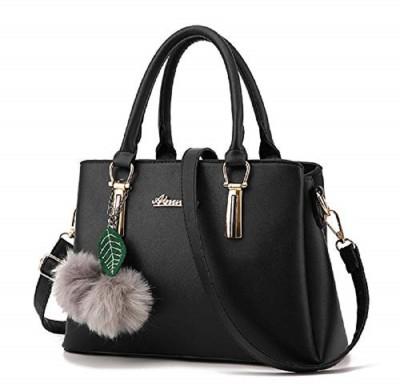 Vintage Women Black Hand-held Bag
