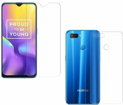 ELEF Front and Back Tempered Glass for Realme U1(Pack of 2)