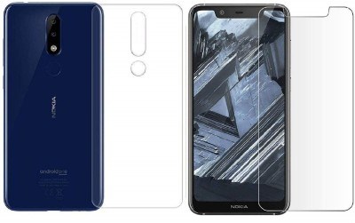 ELEF Front and Back Tempered Glass for Nokia 5.1 Plus(Pack of 2)
