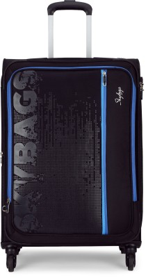 Skybags ZILLION 4W EXP ST 71 CHR. BLK Expandable Check in Luggage   28 inch Skybags Suitcases