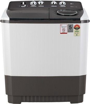 LG 10 kg 5 Star Rating Semi Automatic Top Load Grey, White(P1045SGAZ)
