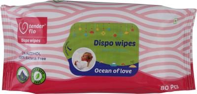 Tender flo Baby Wipes  80 Pcs  80 Wipes