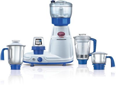 Prestige 41336 Delux Total Ls 750 W Mixer Grinder (5 Jars, White, Blue)