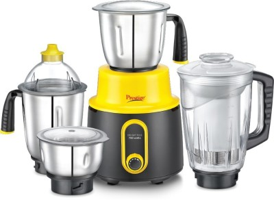 Prestige Delight Plus 750 Mixer Grinder(Yellow, 4 Jars)