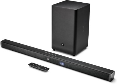 JBL BAR21 Dolby Digital with Wireless Subwoofer 300 W Bluetooth Soundbar(Black, 2.1 Channel)